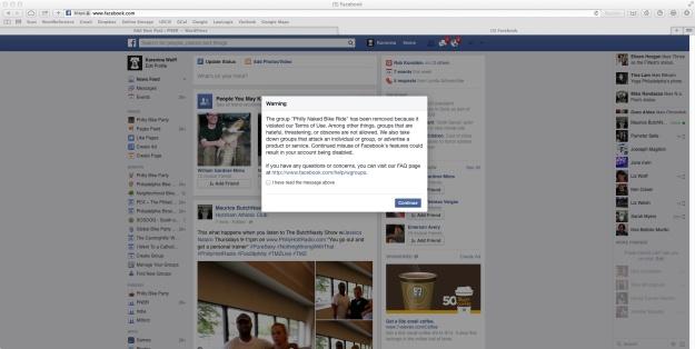 PNBR Facebook Warning