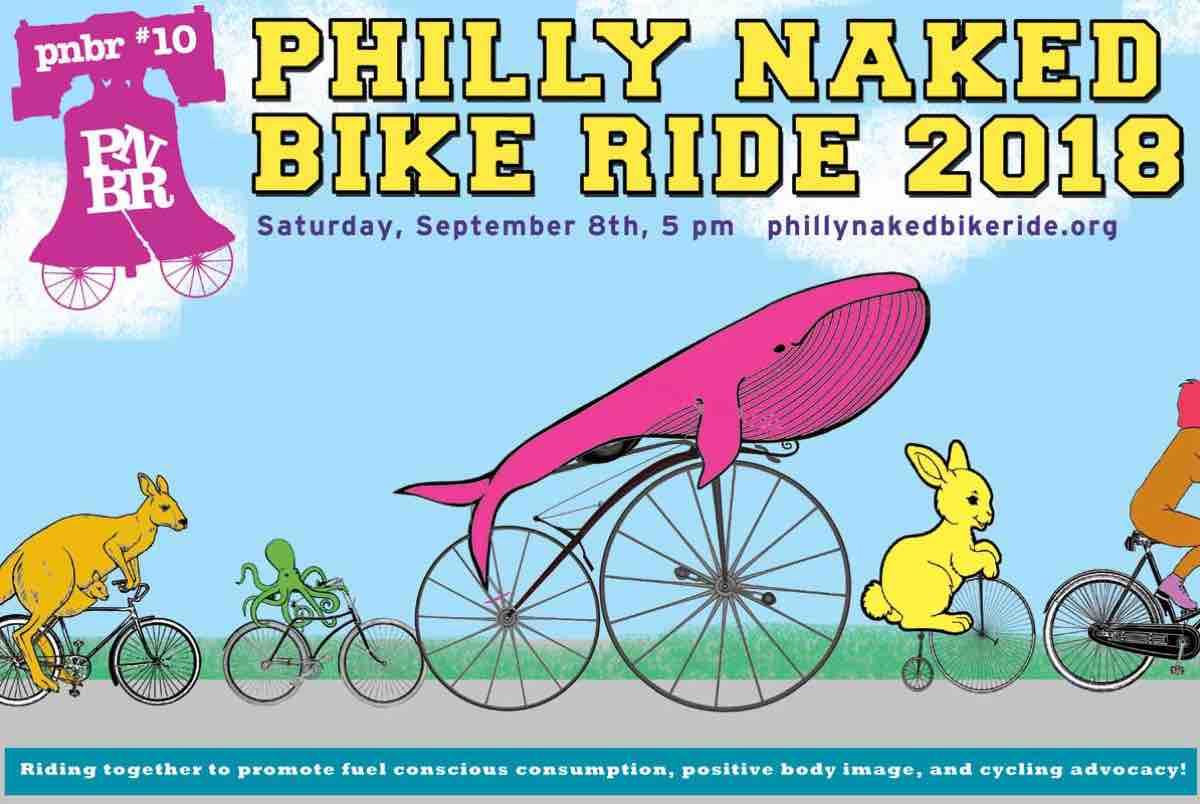 Something is. Philadelphia naked bike ride